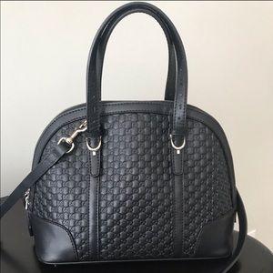 Black GG Guccissima Crossbody Dome bag